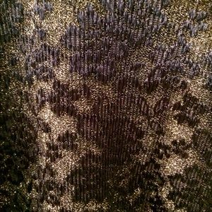 connected apparel Dresses - Gold with black lace overlay dress